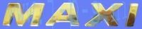STICKERSET MAXI CHROOM LETTERS DIK SCHUIN 21,5MM H