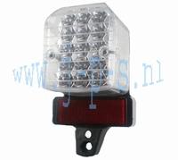 ACHTERLICHT PEARLY ZWART-LEXUS LOOK 15 LEDS 12VOLT